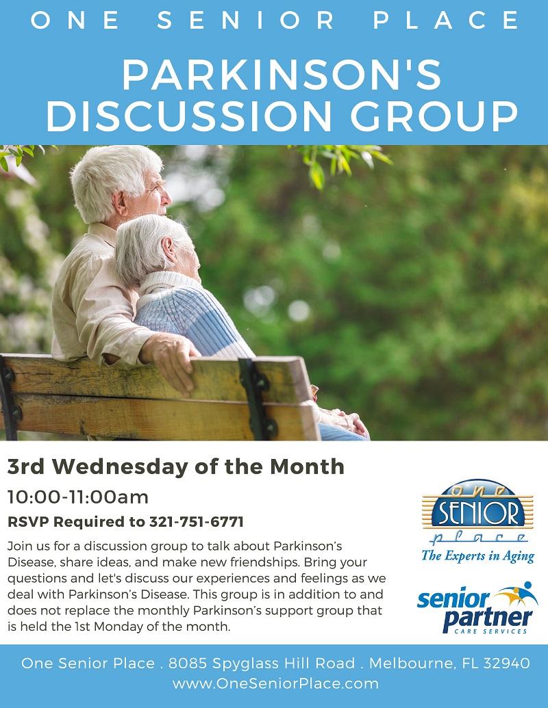 Parkinson's Discussion Group, One Senior Place