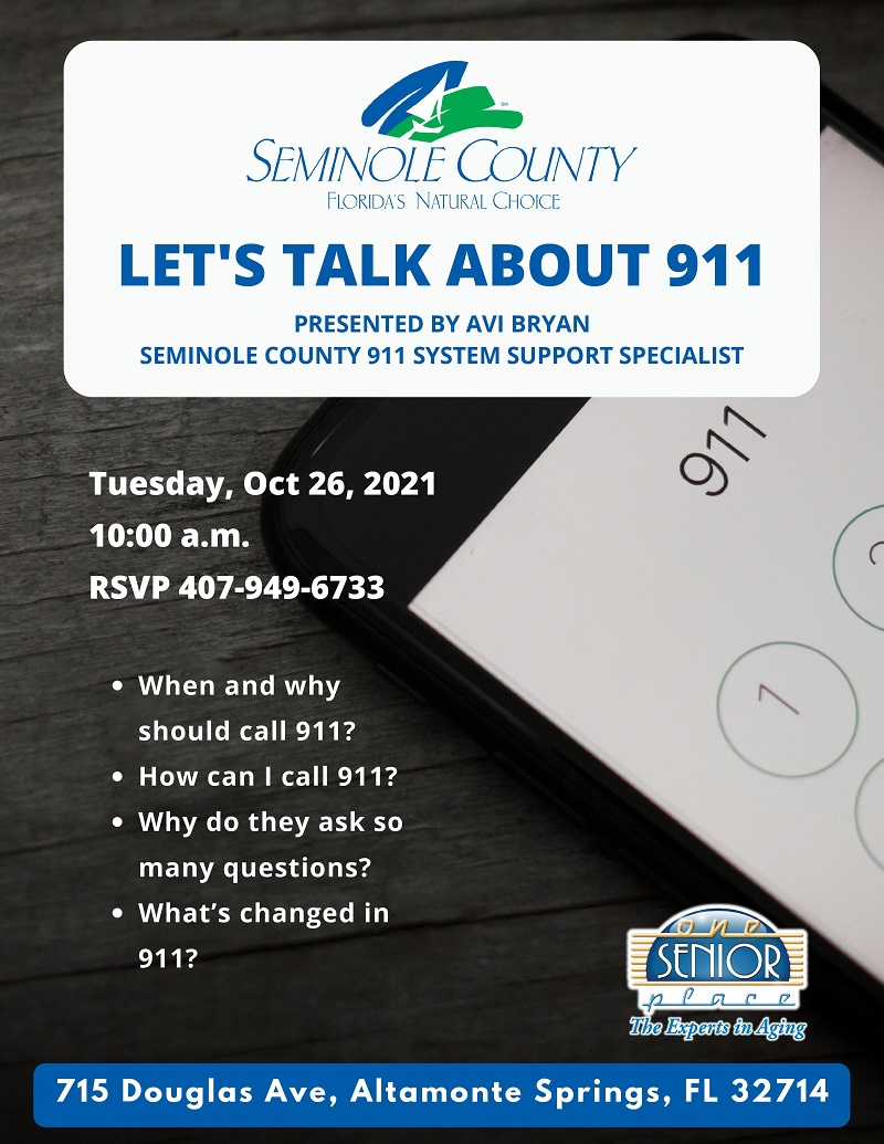 IN PERSON:  Let's Talk About 911