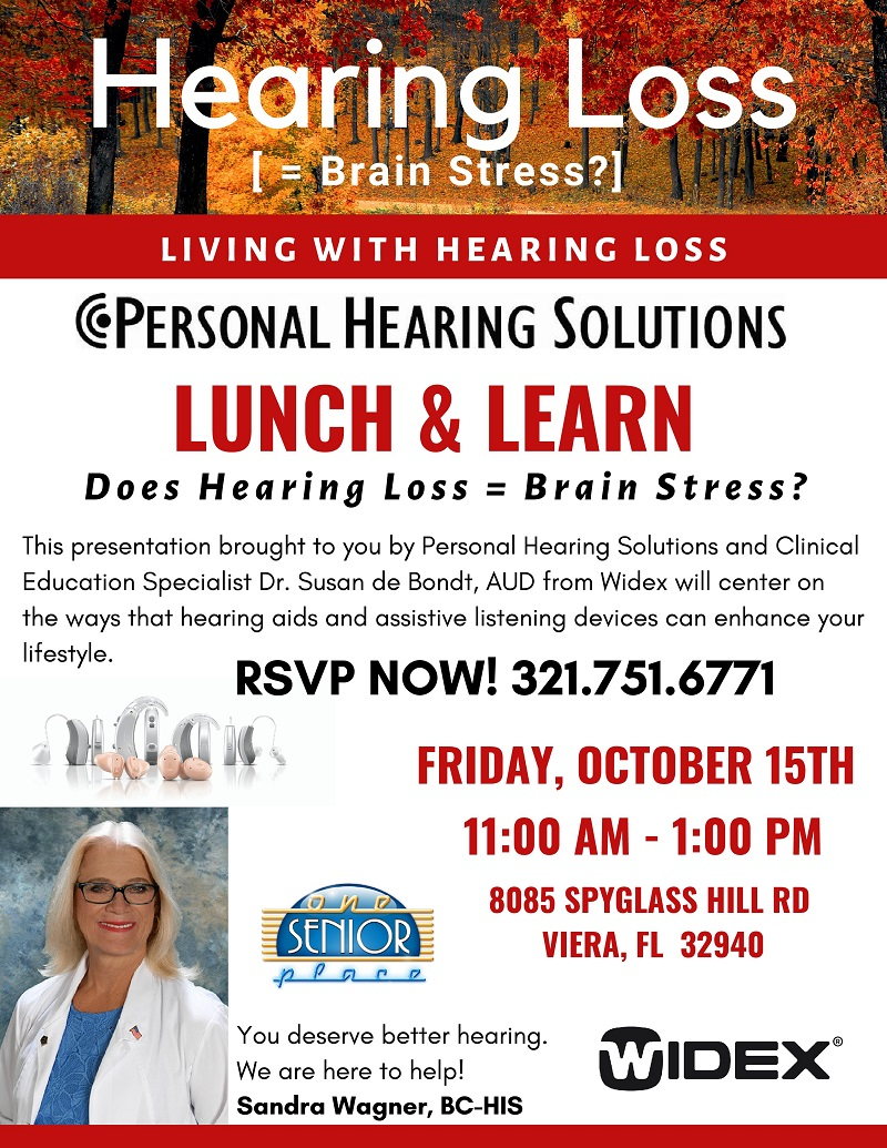 Hearing Loss [= Brain Stress?] presented by Personal Hearing Solutions