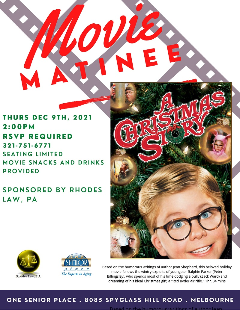 Movie Matinee: 'A Christmas Story' sponsored by Rhodes Law, PA