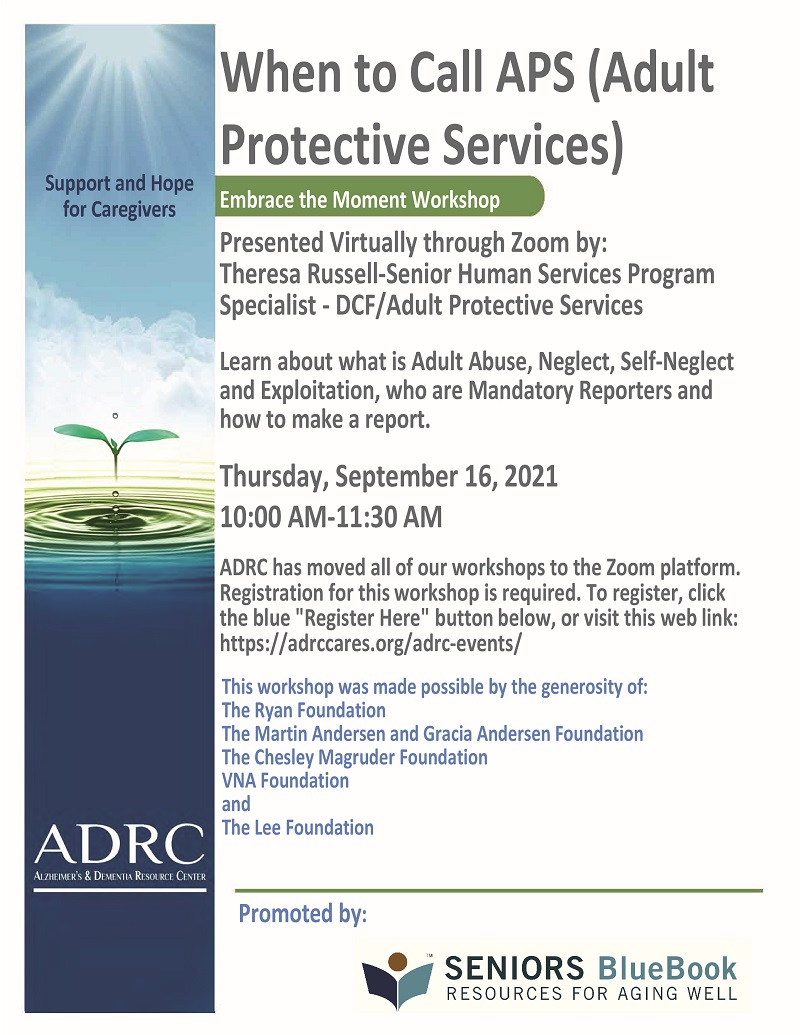 VIRTUAL: When to Call APS (Adult Protective Services)