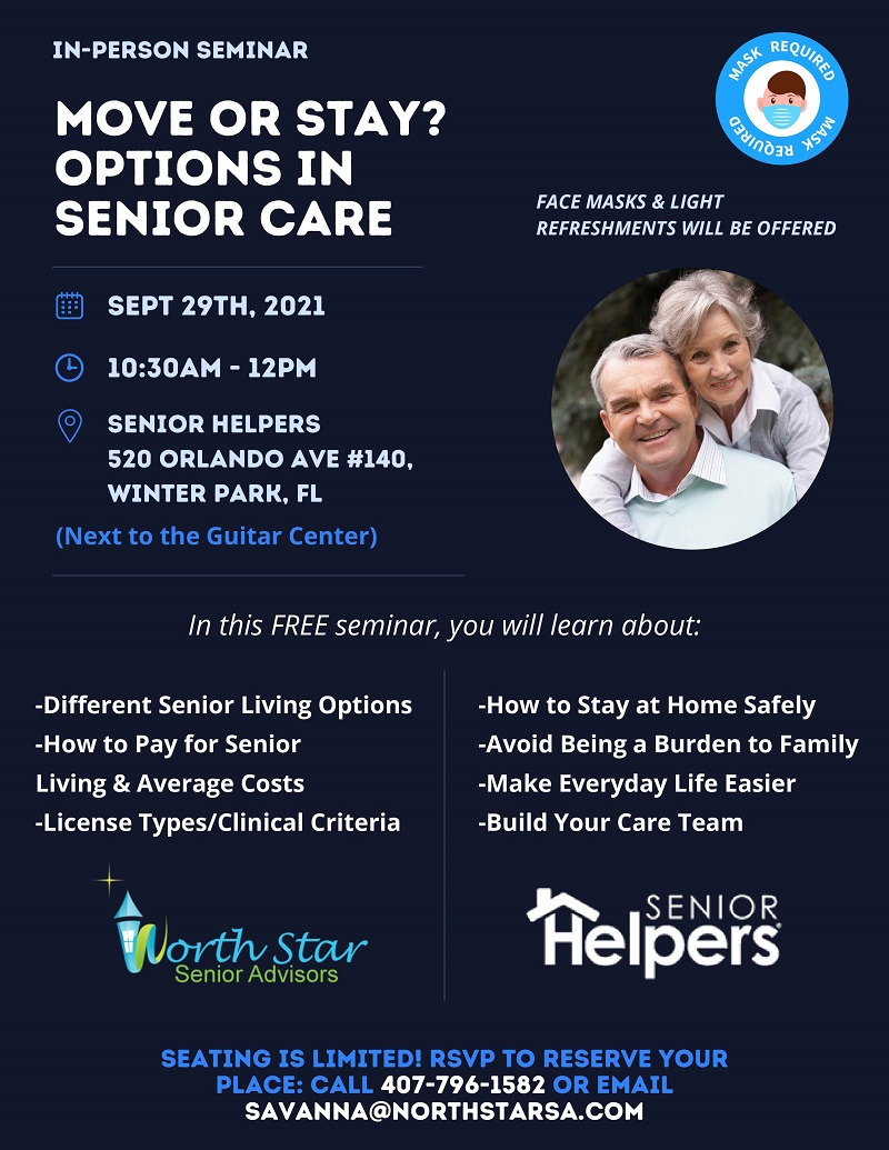 Move or Stay? Options in Senior Care