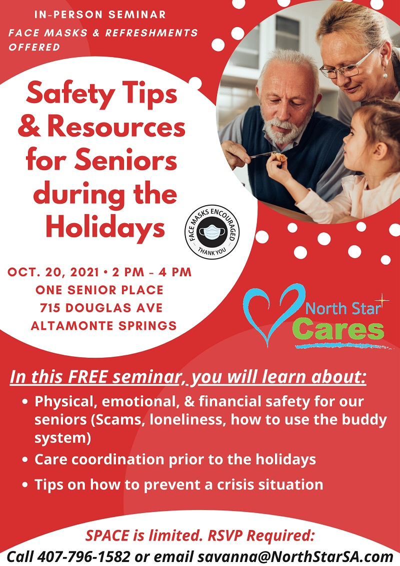 Safety Tips & Resources for Seniors during the Holidays