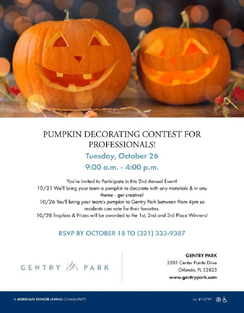 Pumpkin Decorating Contest for Professionals!