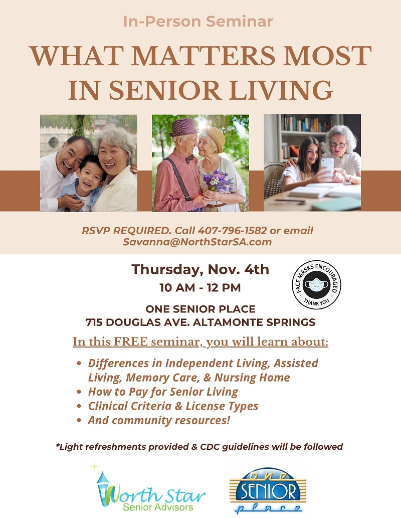 What Matters Most in Senior Living