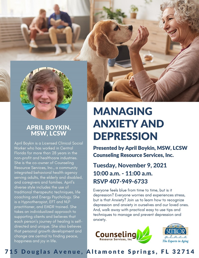Managing Anxiety and Depression