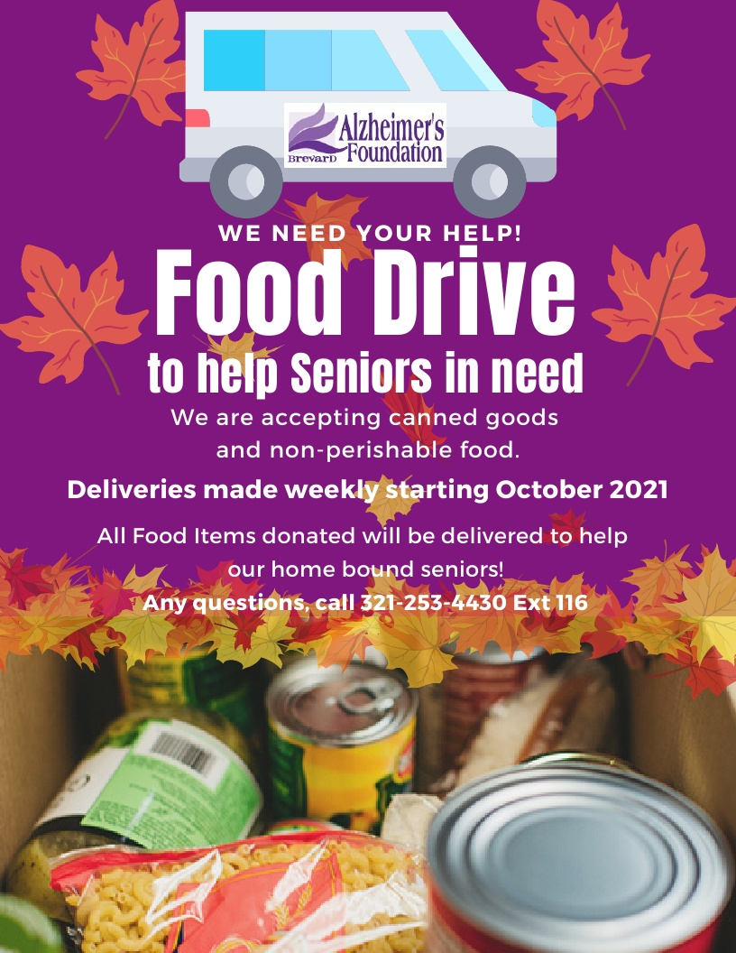 Food Drive to Help Seniors in Need - Brevard Alzheimer's Foundation